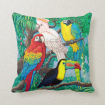 Tropical Birds Pillow