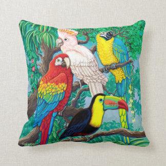 Tropical Birds Pillow Pillows