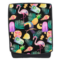 Tropical Birds Pineapple Pattern Backpack
