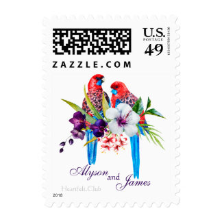 Tropical Birds Postage Stamps