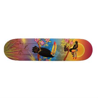 Tropical Birds Skate Board Deck
