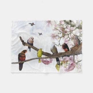 Tropical Birds Small Fleece Blanket