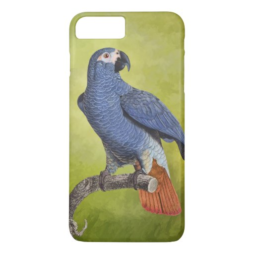 Tropical Birds Vintage Parrot Illustration iPhone 8 Plus/7 Plus Case