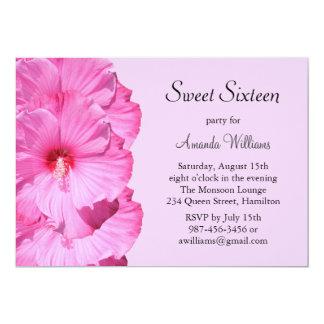 Tropical Birthday Invitation (purple)