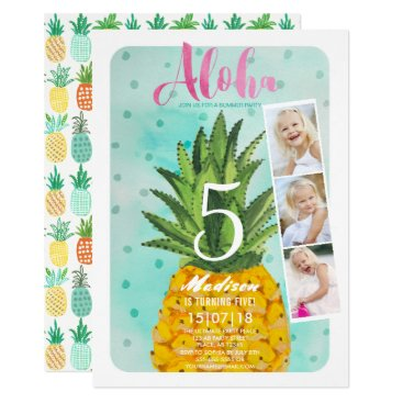 CartitaDesign Tropical Birthday | Pineapple Fruit | Invitations