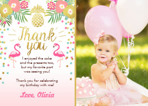 Pineapple Thank You Cards Zazzle