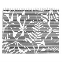 Tropical black stripes calendar