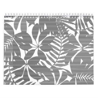 Tropical black stripes calendar