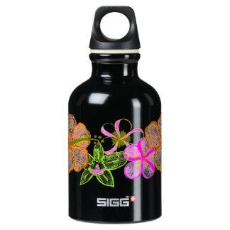 Tropical Blend Flowers Water Bottle