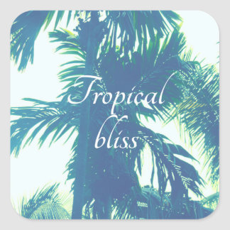 Tropical Bliss Square Sticker