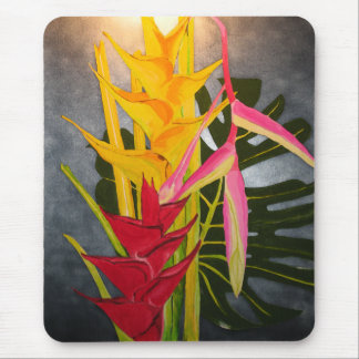 Tropical Blossums Acrylic Painting Mousepad
