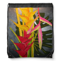 Tropical Blossums Painting Backpack