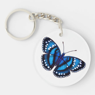 Tropical Blue Butterfly Keychain