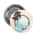 Tropical blue circle pin