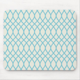 Tropical Blue Geometric Mouse Pad
