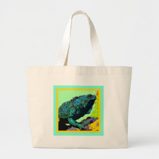 Tropical Blue-Green Iguana gifts by Sharles Bag