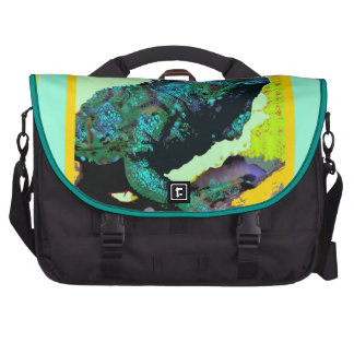 Tropical Blue-Green Iguana gifts by Sharles Bags For Laptop
