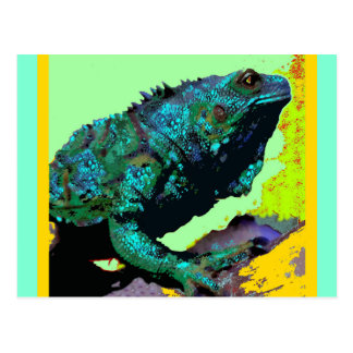 Tropical Blue-Green Iguana gifts by Sharles Postcard