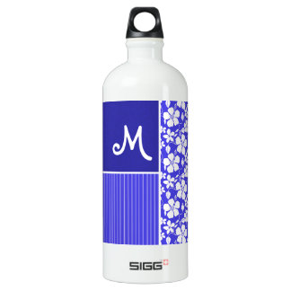 Tropical Blue Hibiscus Flower; Floral SIGG Traveler 1.0L Water Bottle