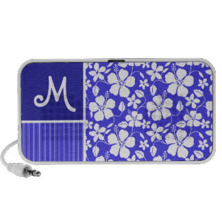 Tropical Blue Hibiscus Flower; Floral PC Speakers