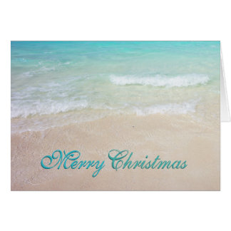 Tropical Blue Ocean Beaches Christmas Cards