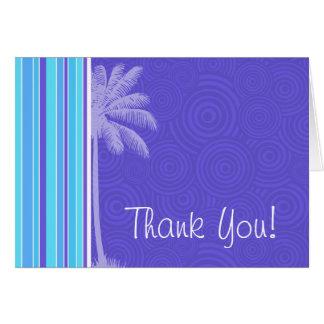 Tropical Blue & Purple Stripes; Striped Card