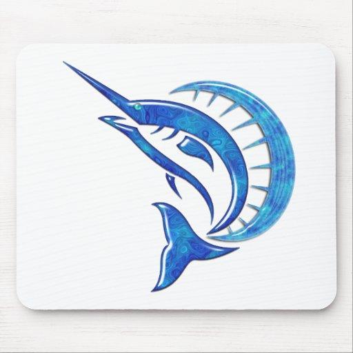 Tropical Blue Sailfish Mousepad