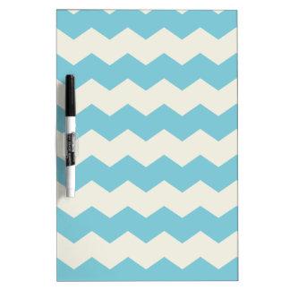 Tropical Blue White Sand Chevron Dry Erase Board