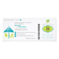 Tropical Boarding Pass Wedding Invitation 4&quot; X 9.25&quot; Invitation Card (<em>$3.25</em>)