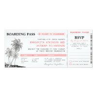 tropical boarding pass wedding tickets with RSVP Card (<em>$2.57</em>)