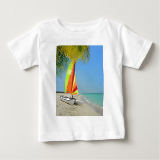 Tropical boat in the Caribbean Tshirts