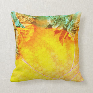 Tropical Borders Throw Pillow