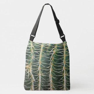 Tropical Botanical Cacti Needles Crossbody Bag