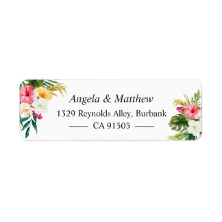 Tropical Botanical Floral Summer Themed Label