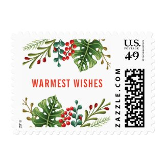 Tropical Botanical Holiday Postage