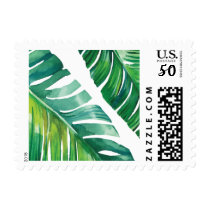 Tropical Botanical Palm Leaf Stamp