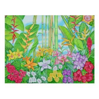 Tropical Botanical Postcard