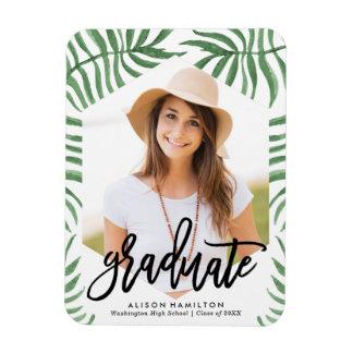 Tropical Breeze Graduation Photo Magnet