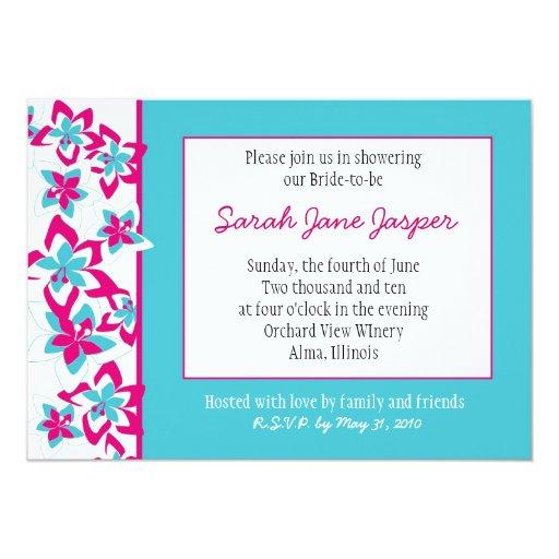 "Tropical Bridal Shower invitation 5"" X 7"" Invitation Card"