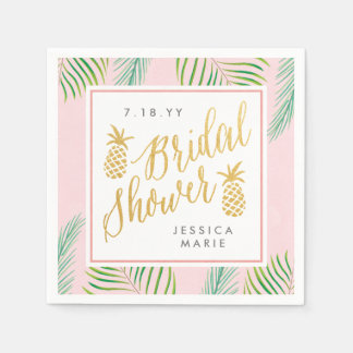 Tropical Bridal Shower Personalized Napkins