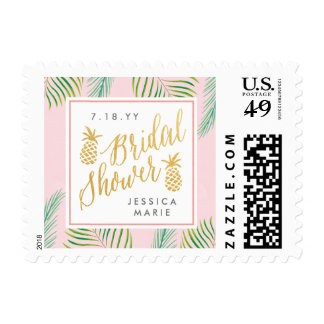 Tropical Bridal Shower Personalized Postage Stamps