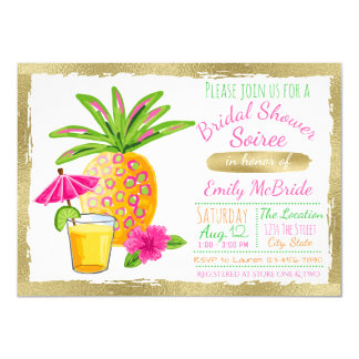 Tropical Bridal Shower Soiree Card