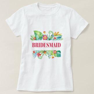 Tropical | Bridesmaid Destination Wedding T-Shirt