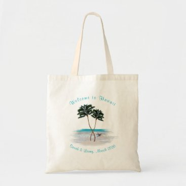Beach Themed Tropical Bridesmaid Personalized Gift Bag