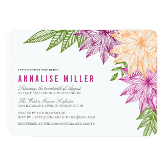 Tropical Brights Bridal Shower Card