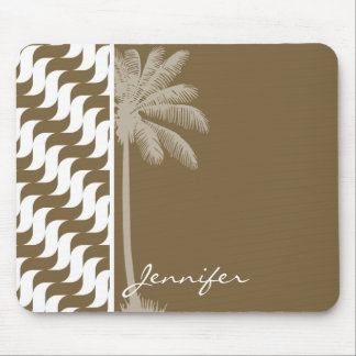Tropical Brown Waves Mouse Pad
