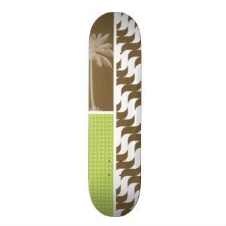 Tropical Brown Waves Skateboard Deck