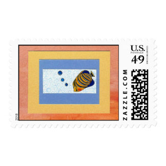 Tropical Bubblefish Postage Stamp