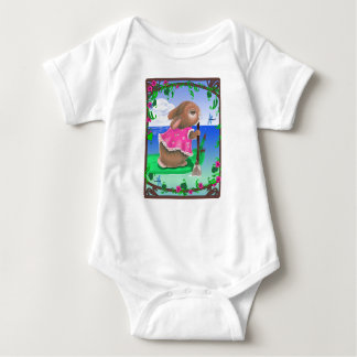 """Tropical Bunny"" Infant Creeper"