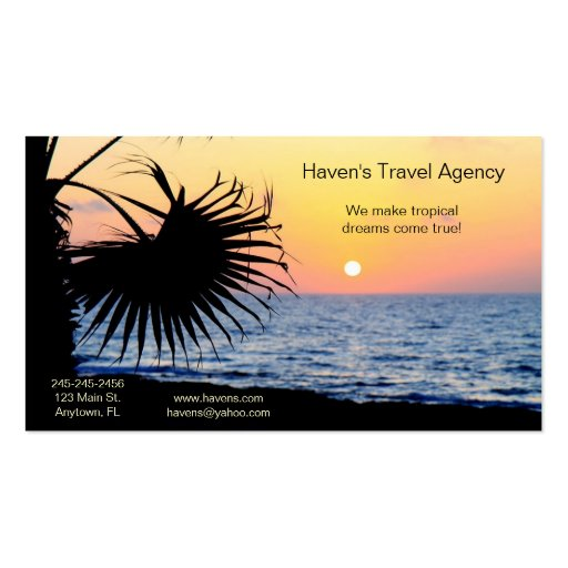 Tropical Business Card